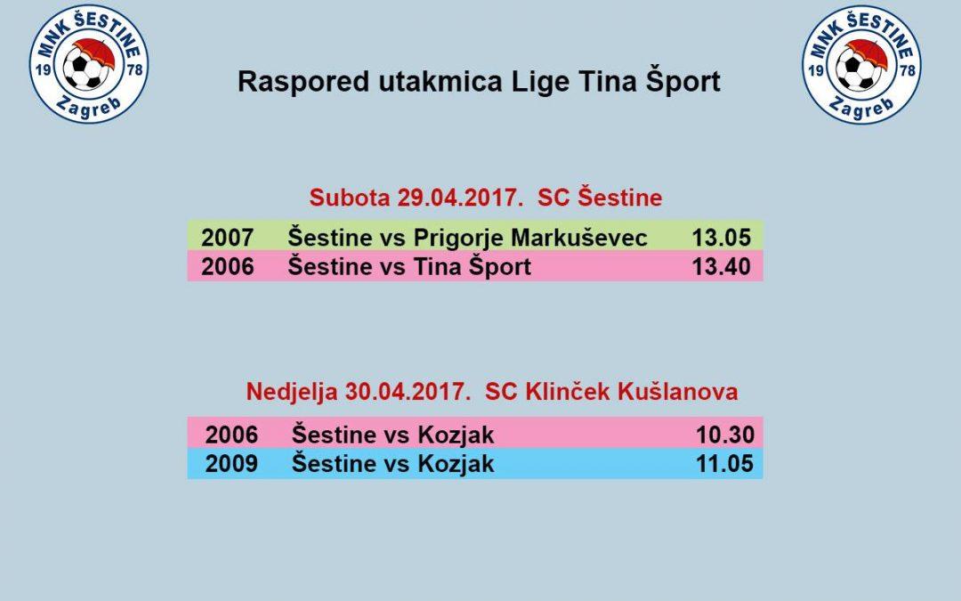 Raspored Lige Tina šport 29-30.04.2017.