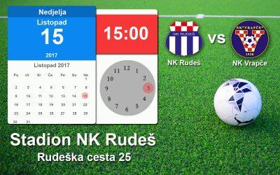 Najava utakmice NK Rudeš vs NK Vrapče
